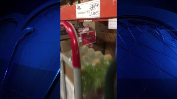 Raw: Rodent Caught on Camera at Denton Kroger, Vendor Says