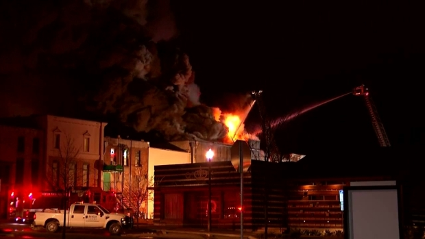 Raw: Fire Destroys Downtown Denton Landmarks
