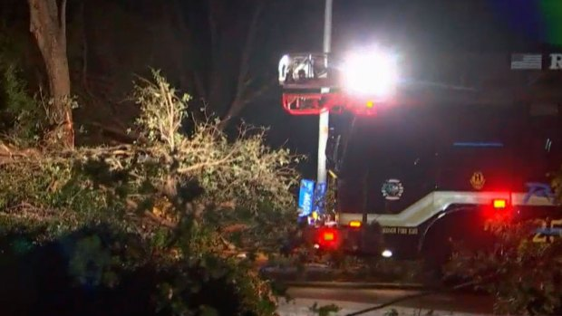Firefighters Break Out Chain Saws to Help Richardson Residents