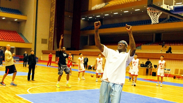 [AP] See Dennis Rodman Train With North Korean Basketball Players