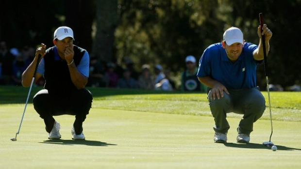 Romo, Woods, First Day At Pebble Beach