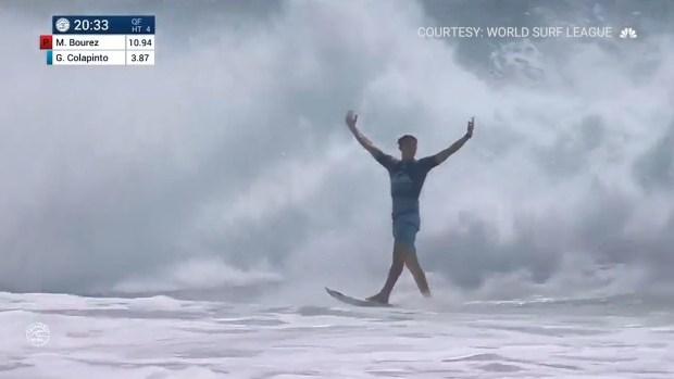 [NATL] Rookie Surfer Nails Rare Triple Barrel
