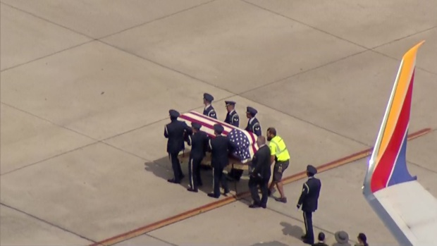 USAF Fighter Pilot Returns Home, Arrival and Procession