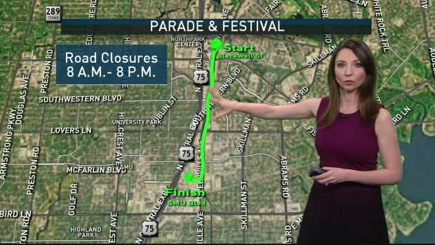 Dallas Roads Crowded for St. Patrick's Day