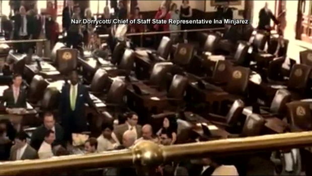 Texas Lawmakers Scuffle, Threaten to Shoot Each Other as Immigration Talks Boil Over (Raw, No Audio)