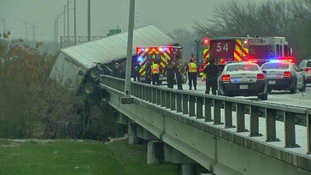 Driver Escapes Cab Dangling Off Bridge