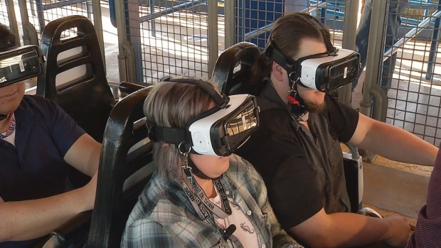 [DFW] Six Flags Debuts North America's 1st Virtual Reality Coaster (Raw Video)