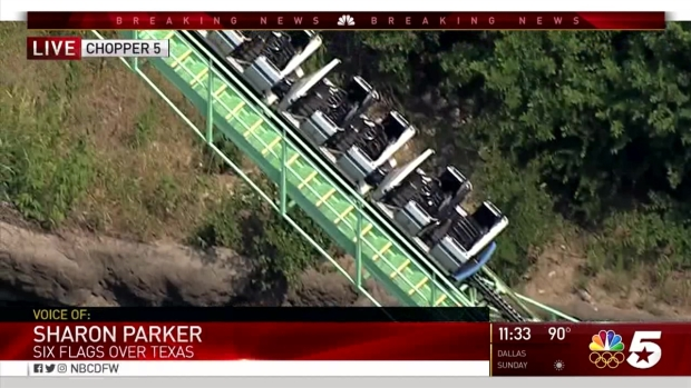 Roller Coaster Stuck On Tracks At Six Flags Over Texas