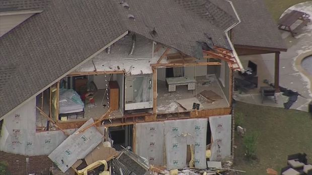 Texas Sky Ranger: Storm Damage in Rockwall, Tarrant Co.