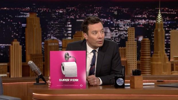 [NATL] 'Tonight': Jimmy Fallon Plays Super Pink's 'Toilet Paper'