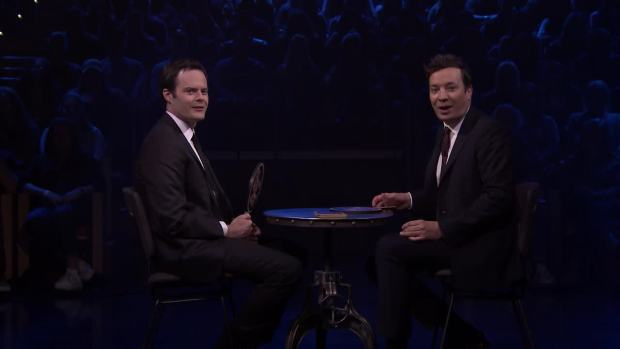 [NATL] 'Tonight': Bill Hader and Jimmy Fallon Try Not to Break Playing the Face It Challenge