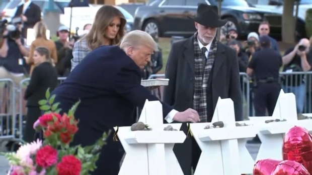 [NATL] Trump Visits Pittsburgh as Jewish Community Begins Burying Its Dead