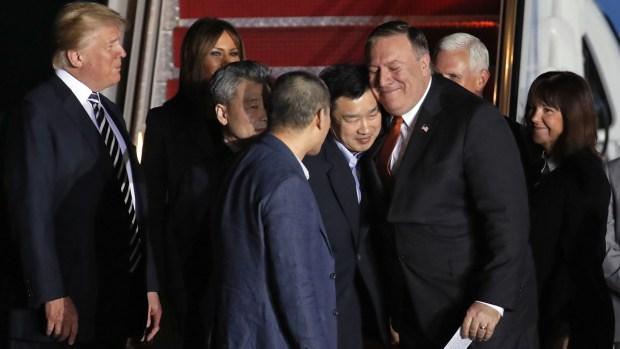 [NATL] 3 Americans Freed From N. Korea Arrive in US