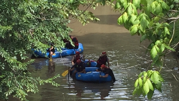 Authorities Search for SMU Officer Swept Away in High Water