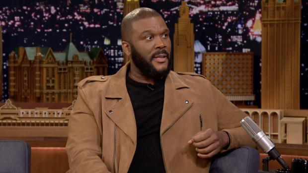 [NATL] 'Tonight': Tyler Perry Refused to Let Blue Ivy Carter Outbid Him on a Painting