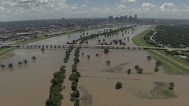 Chopper 5 Surveys the Trinity River