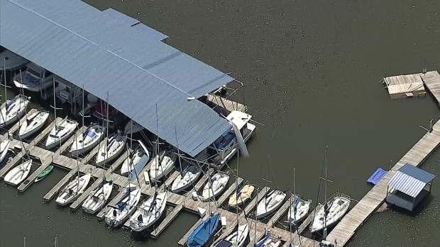 Boats and Docks Damaged at Lynn Creek Marina