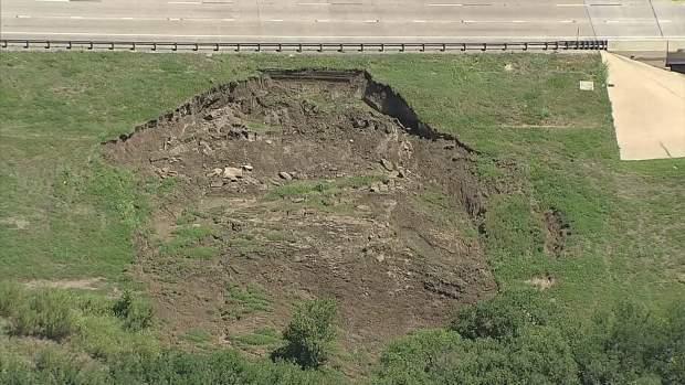 Road Erosion on Loop 12 & I-30