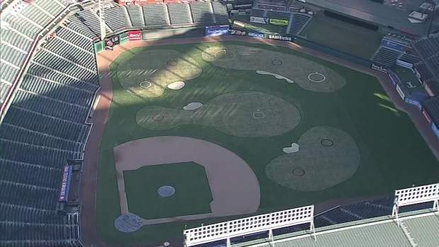Globe Life Park Turns Into Golf Course