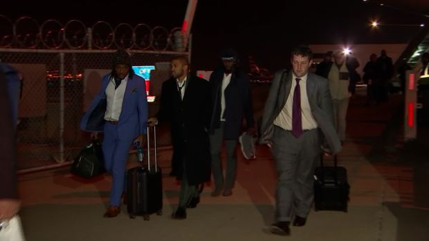 Cowboys Arrive Home After Giants Loss