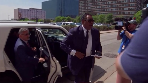 Dwaine Caraway Arrives for Sentencing in DCS Scandal