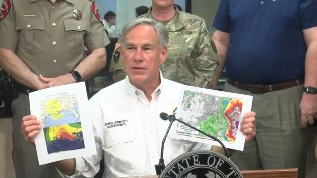 Gov Greg Abbott Says Texas Prepping for Storms