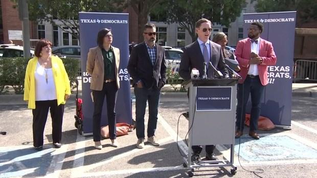 Democrats Gathered to Oppose Trump Dallas Visit