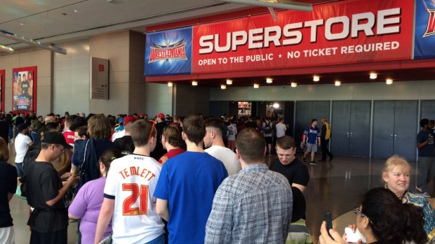 WWE Axxess Stores Open Ahead of Wrestlemania