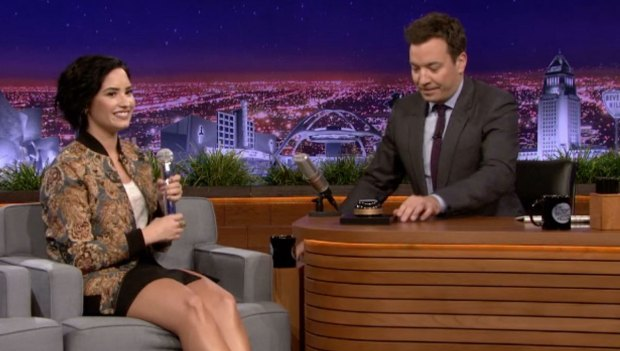 [NATL] 'Tonight Show' Demi Lovato Plays Wheel of Musical Impressions