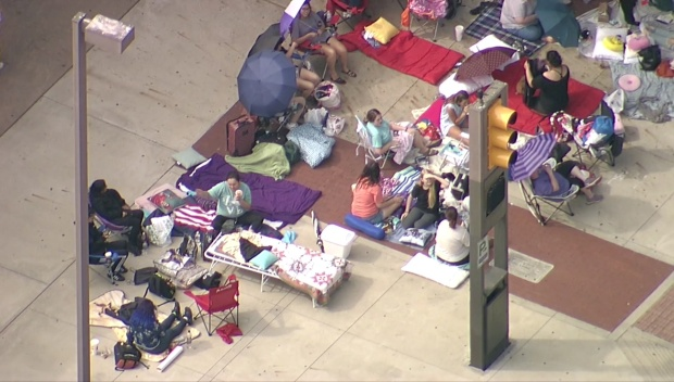 BTS Fans Already Lining Up Outside Convention Center