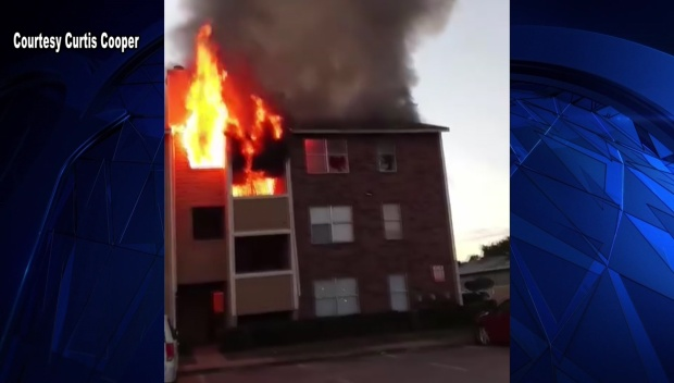 Residents Jump from Dallas Apartment Fire