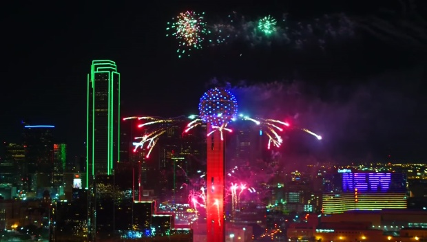 [DFW] Reunion Tower Fireworks Show Preps Ongoing
