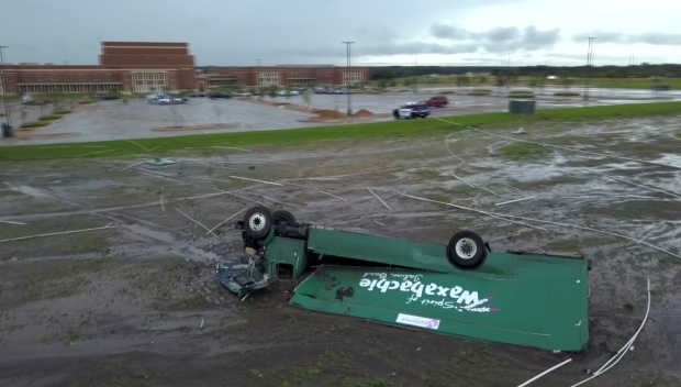 Drone Video: Waxahachie High School Damage