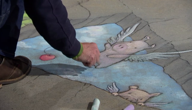 [DFW] Watch a 3D Street Chalk Artist at Work