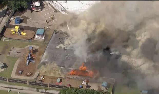 Large Fire Spreads Through Mesquite School Building