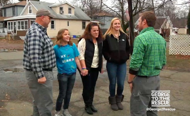 George Rescues Superstorm Sandy Family