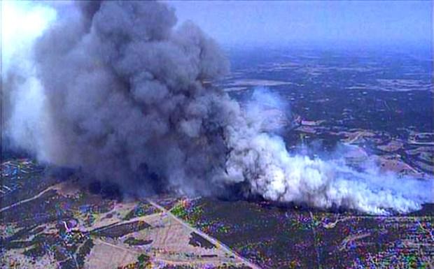 PK Brush Fire Burns Homes