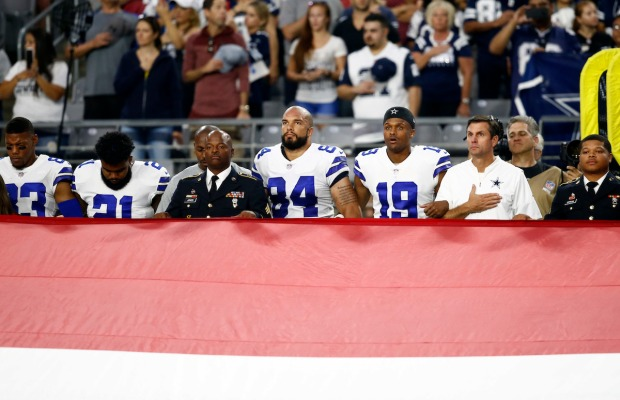 See It: NFL Players Protest After Trump's Criticism