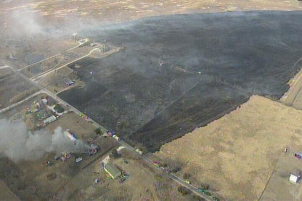Wildfires Burn in Johnson, Wise Counties
