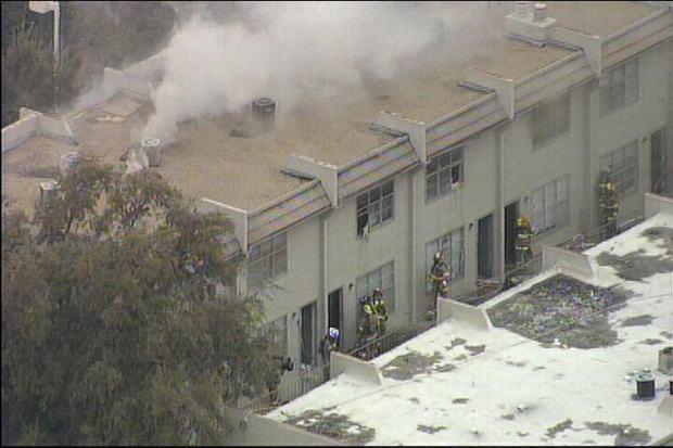 Firefighters Battle Three-Alarm Blaze