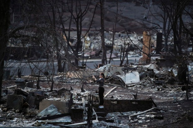[NATL COPY] California Inferno: Images From Northern California's Deadly Fires