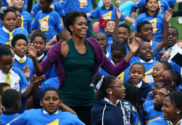 [DC] First Lady Michelle Obama Attempts Jumping Jack World Record