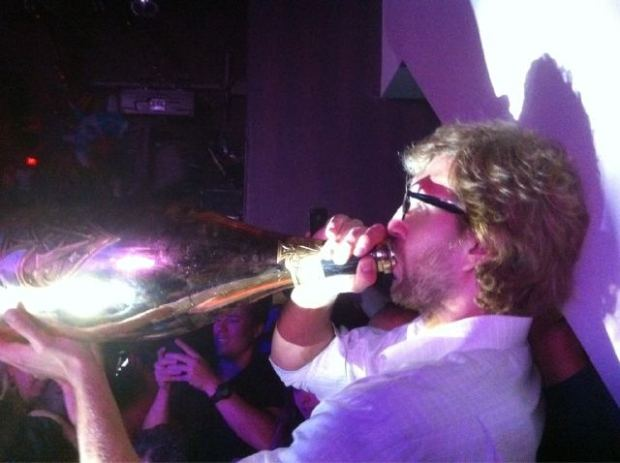 Mavs Party With NBA Trophy at LIV