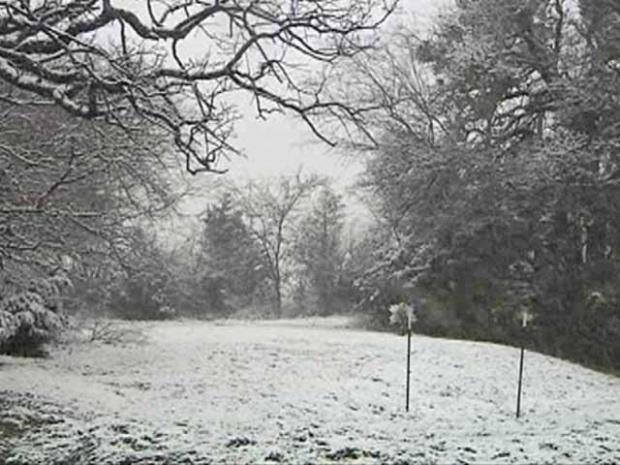 [DFW] Heavy Snow South of the Metroplex