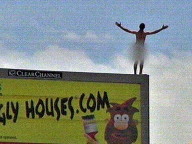 [DFW] Naked Man on Billboard Comes Down