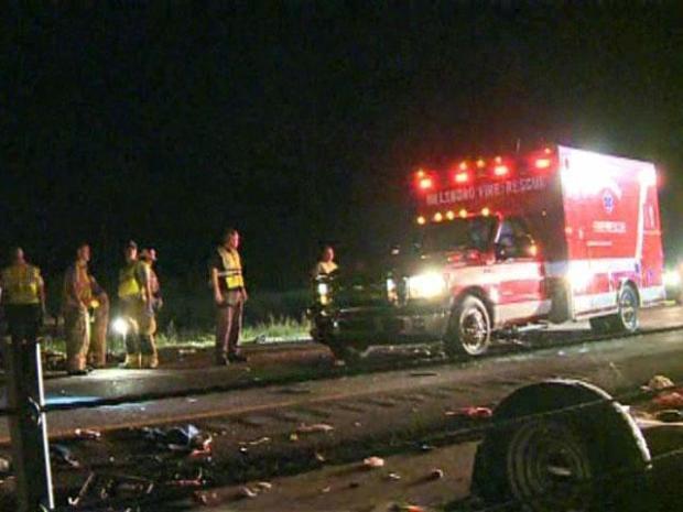 [DFW] 6-Month-Old Killed in I-35 Van Crash; 13 Injured