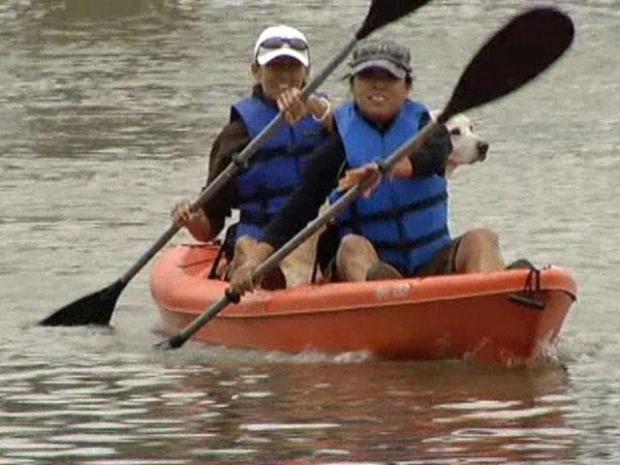[DFW] Enjoying White Rock Lake from a Kayak