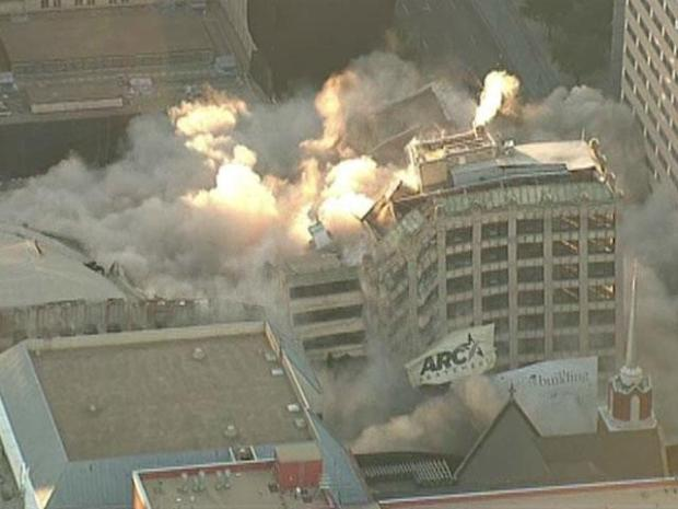 [DFW] Chopper View: First Baptist Dallas Implosion
