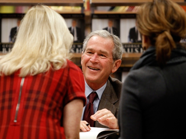 Bush Greets Thousands at Book Signing