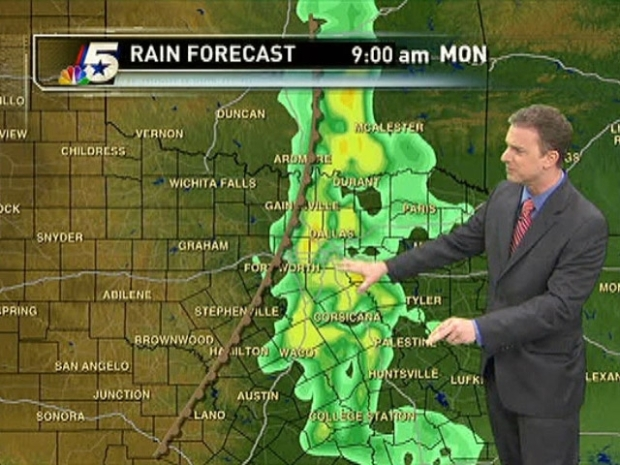 [DFW] Rain in the Forecast Monday